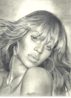 Beyonce Pencil Drawing by ChipWhitehouse