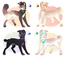 Canine Adoptable Batch_2 +OPEN+ by Seffiron