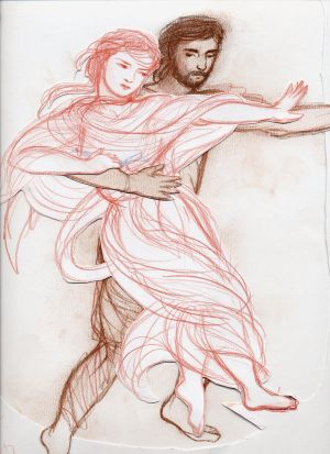 Drawing: Hades and Persephone