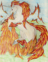 Rapidash for skyqueen by fableworld