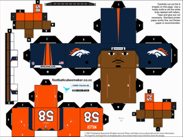 Von Miller Broncos Cubee by etchings13