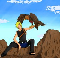 Naruto with my OC clothes (KNJ) by Nightmare626
