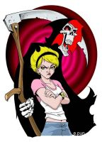 Mandy and Grim by pungang