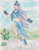 Suicune Gijinka redux by kingofthedededes73