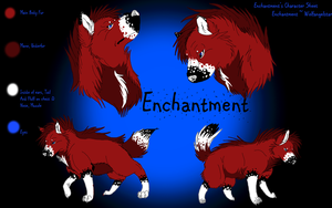 Enchanted's character sheet by WolfAngelStar