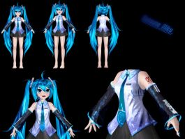Hatsune Miku Model - WIP by Primantis