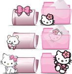 Hello Kitty - Folders icons by 3dera