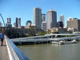 Brisbane City + River 4 by chamara-stock