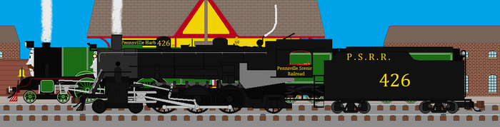 Reba and the Flying Scotsman by RyanBrony765