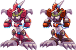 Magma Dragoon - Megaman X - Another Shading 2 by RamzaNeko