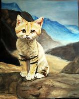 Sand Cat by Meorow
