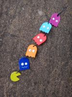 Pacman leather garland by Masktastic