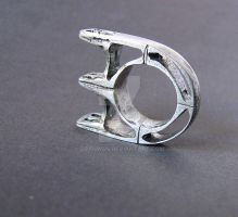 Sterling Bridge Ring 1 by Aranwen