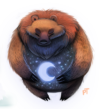 Day 568. Moon Bear by Cryptid-Creations