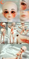 BJD Face Up and Body Work - Fantasy Doll Pamela by Izabeth