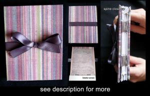 Hand Made Books: Pink Stripe by sambees