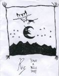 My Cat Jumped Over The Moon by invader-riz
