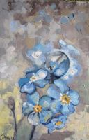 Blue flowers by magdaurse