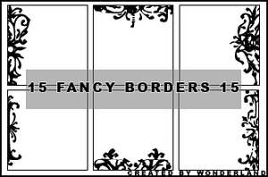 Fancy Icon Borders 15 by Foxxie-Chan