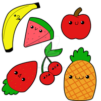 Chibi Fruits by wondering-souls