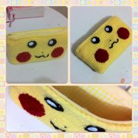Pikachu 3DS Case Zippered by AmiAmaLilium