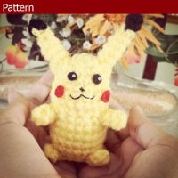 Mini Pikachu Amigurumi Pattern by AmiAmaLilium