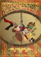 Harley's Nouveau Circus Poster by SnowFright
