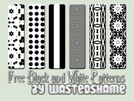 Wastedshame Black and White Patterns by wastedshame