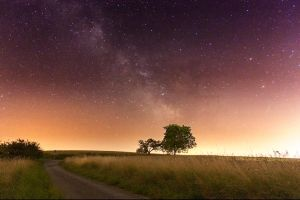 The Milky Way over Genf by bokayeh