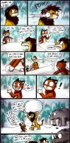 [ANKComic] Snowball Fight by catkitte