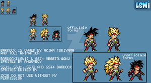 Bardock All Forms: LSWi Sprite style by SuperShadiw1010