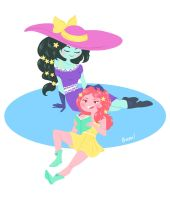 Marceline and Princess Bubblegum by LisaBueno