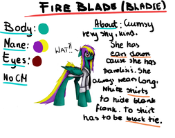 Reference Sheet: Fire Blade by IgnisLamina