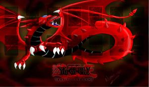 Slifer the sky dragon playmat by Nami-v