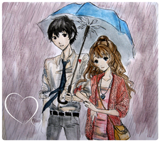 Rainy couple by Moonlilith91