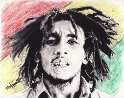 Bob Marley by DarkCalamity