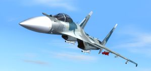 SU-35 Flanker 1 by agnott