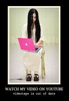 Samara Morgan and her pink laptop by Jettealyn