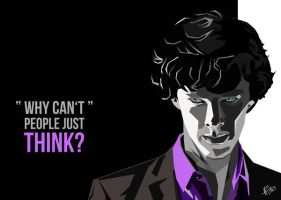 Sherlock BBC Fan Art Benedict Cumberbatch by Mina-Burtonesque