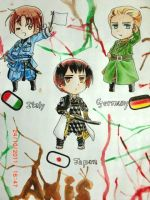 Axis power Hetalia by hanakoofthejungle