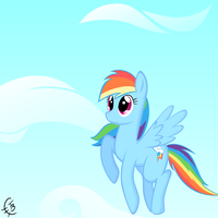 Rainbow Dash Flight by TheTidbit