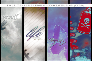Four life textures by vengeanceavenue