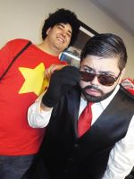 Steven Universe and Hei Xiong Junior at Hurricon 2 by KrazyKari