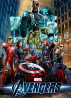 The Avengers Movie Poster Concept Art by Alex4everdn