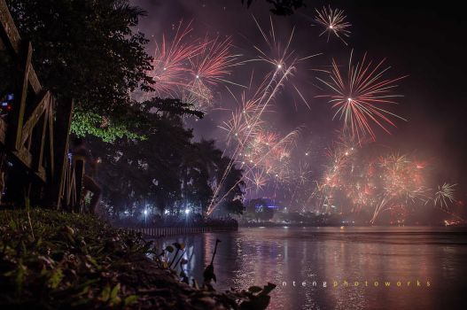 New Year Eve of Samarinda City by ntengs