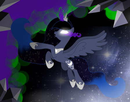 Mlp Blue Dream: Temptation of the darkness by LunaApple