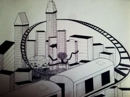 Perspective Work City by Laura31470
