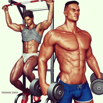 New Year's Resolution #1 - Hit the Gym by StromoXXX
