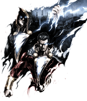 SHAZAM and Black Adam by naratani