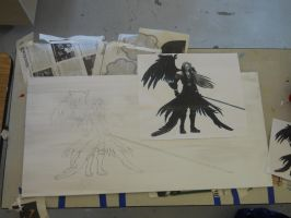 Sephiroth Stained Glass Part 1 by Co-Swagster